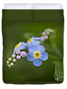 Forget Me Not Duvet Cover