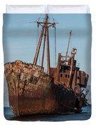 Forgotten Ship Wreck Duvet Cover