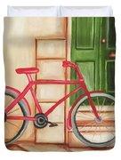 Forlorn Bike Duvet Cover