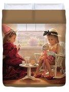 Formal Luncheon Duvet Cover by Greg Olsen
