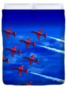 Formation Flying Britains Red Arrows Duvet Cover