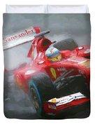 Formula One Burning The Track Duvet Cover