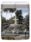 Forsyth Fountain Park Duvet Cover