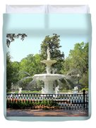 Forsyth Park Fountain Square Duvet Cover