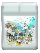 Fort And Houses In Valenca Duvet Cover