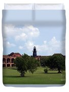 Fort Jefferson Parade Grounds And Harbor Light Duvet Cover