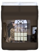 Fort Macon Through Glass Duvet Cover