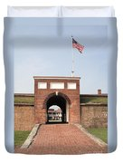 Fort Mchenry Gate In Baltimore Maryland Duvet Cover