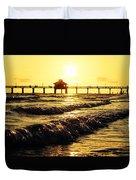 Fort Myers Pier Duvet Cover
