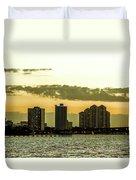 Fort Myers Skyline Duvet Cover