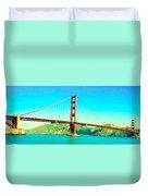 Fort Point Golden Gate Bridge Duvet Cover