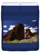 Fort Rock Twin Towers- H Duvet Cover