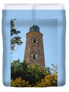 Fort Story Light House Duvet Cover