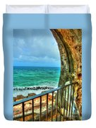 Fort Window View Duvet Cover