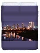 Fort Worth Panorama Duvet Cover