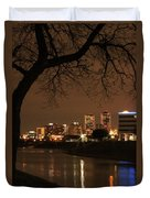 Fort Worth Skyline Duvet Cover