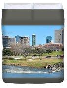 Fort Worth Trinity Park Duvet Cover