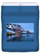 Forth Railway Bridge In Edinburg Scotland  Duvet Cover