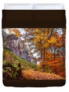 Fortification Koenigstein In Autumn Time Duvet Cover