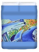 Forty Ford In Fall Duvet Cover