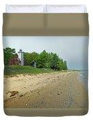Forty Mile Point Lighthouse Springtime Duvet Cover