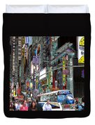 Forty Second And Eighth Ave N Y C Duvet Cover