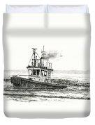 Foss Tugboat Sea Duke Duvet Cover