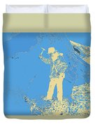 Fossil Hunter Blue Yellow Duvet Cover