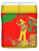 Fossil Hunter Red Yellow Green Duvet Cover