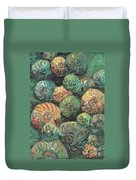 Fossil Shells Duvet Cover