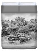 Found Off Road Dead Duvet Cover