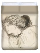 Found - Study For The Head Of The Girl Duvet Cover