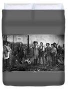Founding Of New Orleans Duvet Cover