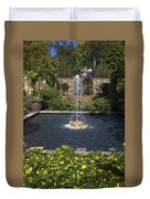 Fountain And Peppers Duvet Cover