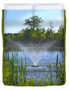 Fountain Art Duvet Cover