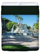 Fountain At Rio Vista Duvet Cover