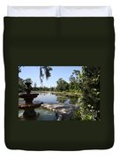 Fountain At The Swamp Duvet Cover