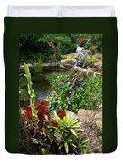 Fountain Flowers Duvet Cover