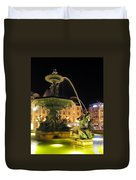 Fountain In Rossio Square Duvet Cover