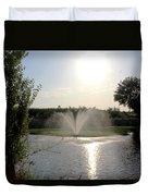 Fountain In The Garden Duvet Cover