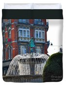 Fountain Of Brussels Duvet Cover