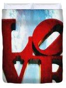 Fountain Of Love  Duvet Cover
