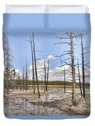 Fountain Paint Pots Lodgepole Pines - Yellowstone Duvet Cover