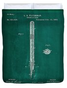 Fountain Pen Patent Drawing 1a Duvet Cover