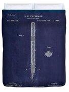 Fountain Pen Patent Drawing 1e Duvet Cover