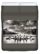 Fountain With Sea Gods At The Palace Of Versailles In Paris Duvet Cover