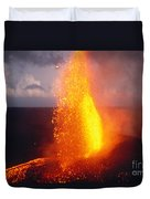 Fountaining Kilauea Duvet Cover