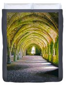 Fountains Abbey, Vaulted Chamber Duvet Cover