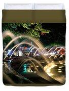 Fountains At Columbus Circle Duvet Cover