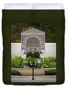 Fountains At The Getty Villa Duvet Cover
